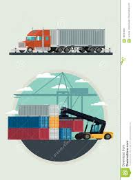 100 Truck And Transportation Cargo Logistics Container With Forklift