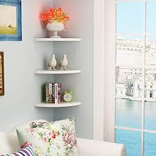 baffect satz 3 eckwandregalen 22cm schwebende eckregal wand holz eckregal für schlafzimmer wohnzimmer badezimmer küche büro home decor m