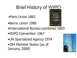 wipo international bureau brief history of wipo union 1883 berne union 1886
