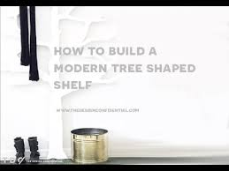 how to build a diy modern tree shaped wood bookshelf from the
