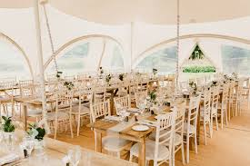 Tent Marquee Long Tables Rustic Hand Crafted Relaxed Wedding Andydavison