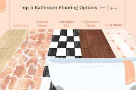 Top 5 Bathroom Flooring Options Kitchen Pet Friendly Flooring Options Small Floor Tile Ideas Why You Should Choose Laminate Hgtv Vinyl For Bathrooms Best Public Bathroom Nice Contemporary With 5205 Charming 73 Most Terrific Waterproof Flooring Ideas What Works Best Discount Depot Blog 7 And How To Bob Vila Impressive Modern Your Lets Remodel Decor Cute Basement New The Of 2018