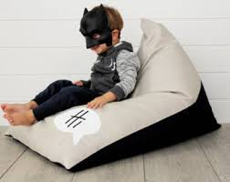 Personalised Kids Bean Bag Monochrome Boys Chair Childs