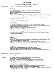 Assistant Superintendent Resume Sample At