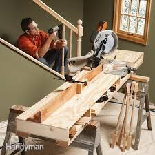 convertible miter saw station plans work surface convertible