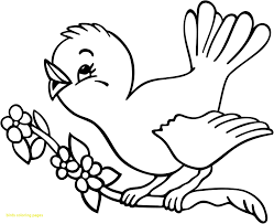 Simple Bird Pictures To Color Birds Coloring Pages Wkwedding Co
