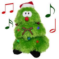 Who Sang Rockin Around The Christmas Tree by Plush Animated Christmas Tree U2013 Lights Up Sings U0026 Dances