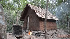 primitive technology tiled roof hut youtube