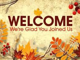 fall wel e to our church clipart