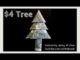 christmas crafts diy how to fold money christmas tree money