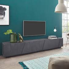 wohnzimmer tv schrank im modernen design mit 6 türen und 3 fächern ping low xl ardesia