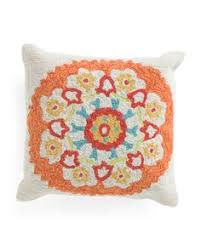 Tj Maxx Christmas Throw Pillows by Made In India 24x24 Peacock Applique Pillow Decorative Pillows