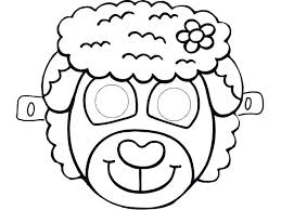 Animals Mask Template Coloring Pages Printable Masks Page Cat Pagesgoat Pagescow Pagesdog