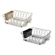 Bed Bath Beyond Okc by Dish Racks U0026 Drainers Stainless Steel Dish Racks Bed Bath U0026 Beyond