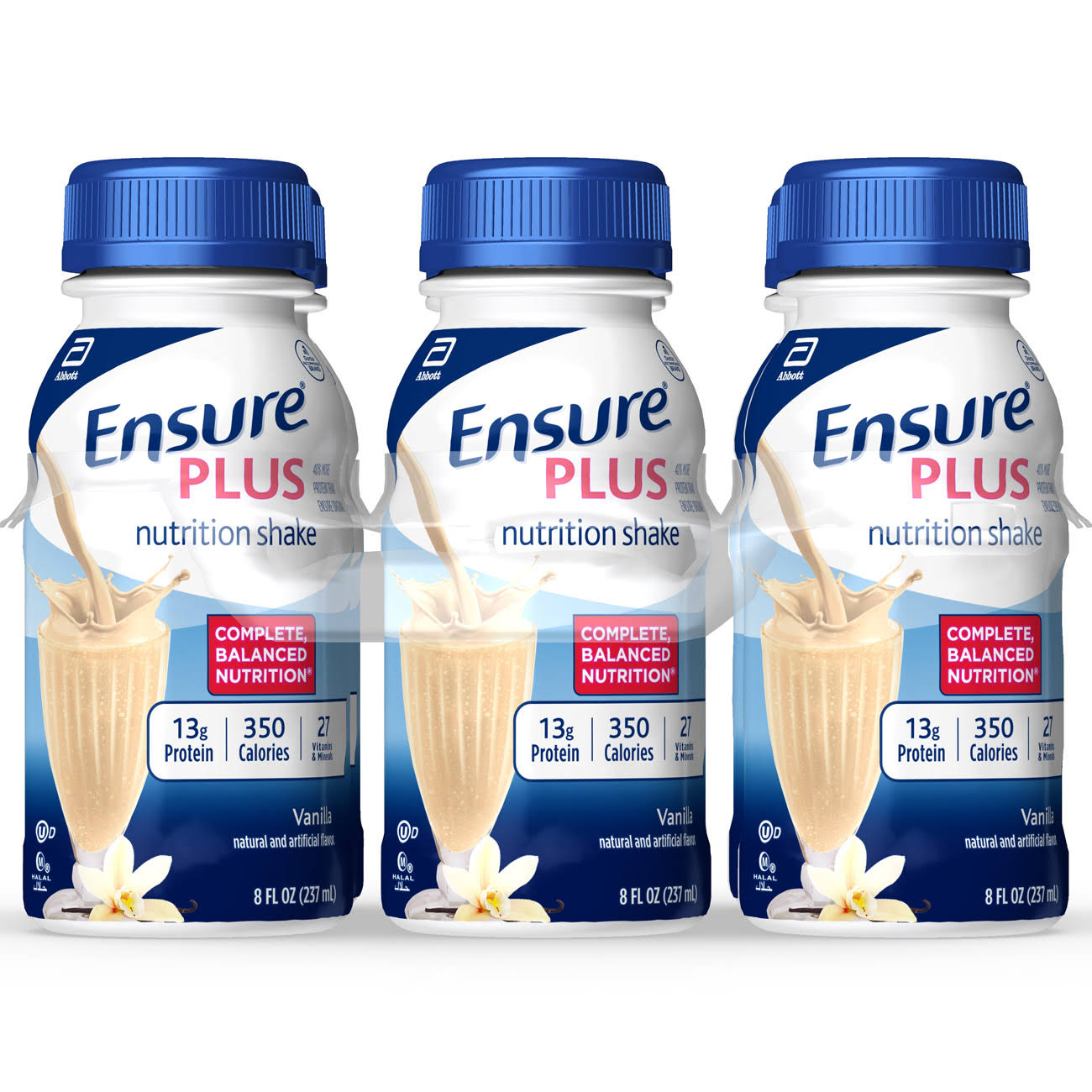 Abbott Ensure Plus Vanilla Nutrition Shake - 6 x 8 oz Pack