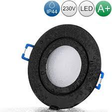 lambado led spots für badezimmer ip44 in schwarz 230v 5w