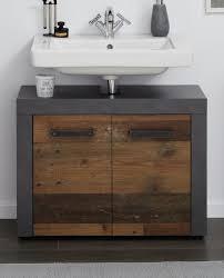 waschbeckenunterschrank cancun in used wood design mit matera grau 72 x 56 cm badezimmer