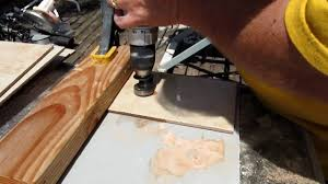 Drilling Through Ceramic Tile by Drill A Hole In Ceramic Tile Youtube