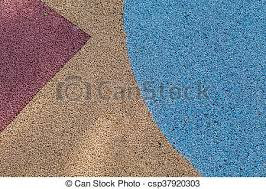 Colorful Red Yellow And Blue Rubber Wetpour Playground Floor Surface