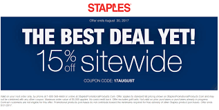 Staples Coupons - 15% Off Everything Online At Staples Via Promo ... Staples Black Friday Coupon Code Lily Direct Promo Coupons 25 Off School Supplies With Your Sthub Codes That Work George Mason Bookstore High End Sunglasses Squaretrade 50 Pizza Hut 2018 December Popular Deals Inc Wikipedia Coupons For At Staples Benihana Printable Hp Laptop Online Food Uk 10 30 Panda Express Free Orange Staplesca Redflagdeals Sushi Deals San Diego
