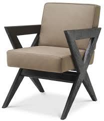 casa padrino luxus echtleder esszimmerstuhl mit armlehnen beige schwarz 59 x 74 x h 88 cm küchenstuhl mit edlem nubuk büffelleder luxus