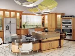 Center Island With Attached Table Kitchen