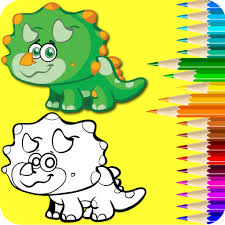 Color The Dinosaurs Kids Dino Coloring Drawing Fun