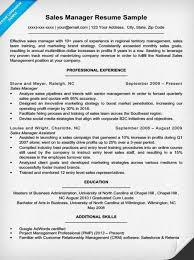 Sales Manager Resume Examples New Sample Amp