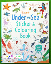Under The Sea Coloring Book Antistress For Children Kids Adult Relieve Stress Painting Drawing English Sticker