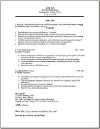 X Ray Technician Resume Examples 25 Recent Application Letter Sample Hrm Objective Job With Cover
