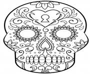 Day Of The Dead Sugar Skull Calavera Coloring Pages