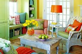 Decoration Rustic Living Room Decor With Triad Yellow