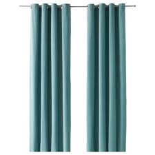 sanela curtains 1 pair light turquoise 140x250 cm ikea