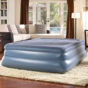 Serta Perfect Sleeper Air Mattress With Headboard by Serta 18 5 U0027 U0027 Raised Air Bed With Headboard Queen Walmart Com