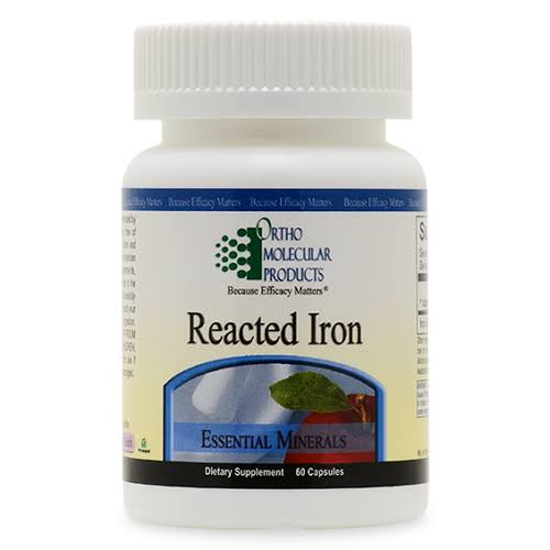 Ortho Molecular Products Reacted Iron Supplement - 29mg, 60 Capsules