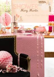 I Loved The Hot Pink Chevron Wrapping Paper Used It To Cover Table Which Is One Of My Favorite Party Tips Use As A Runner