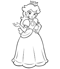 Princess Peach Coloring Pages Free For Kids Beautiful