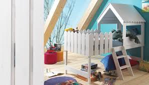 chambre enfant cabane chambre de garcon de 6 ans 9 lit cabane en bois massif blanc pour