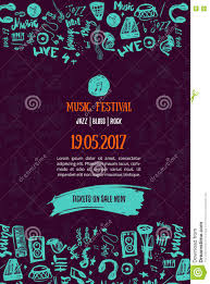 Music Concert Background Festival Modern Flyer Vector Illustration Event Poster Template Design