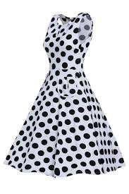 7 98 white plus size polka dot bohemain print dress with keyholes