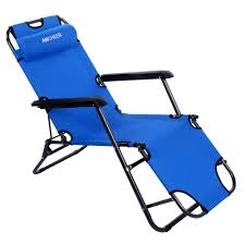 Buy Ancheer Chaise Lounge Folding Lounge Chair Beach Chaise ...
