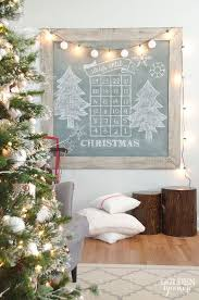 Christmas Extra Large Vintage Green Chalkboard