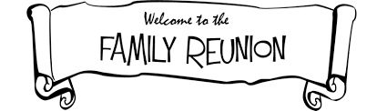 Family Reunion Clipart Black And White
