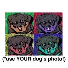 Bowser Dog Beds by Doggy Warhol Custom Quad Portrait Pop Art Dog Bed Designer Dog