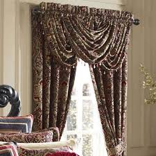 queen new york roma curtain pair damask 84 inches