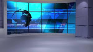 News Tv Studio Set 234 Virtual Green Screen Background Loop Motion