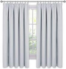 pony gardinen schlafzimmer kinder grau weiß thermovorhänge mit kräuselband dekoschals für wohnzimmer wärmeisolierende gardine schlafzimmer 1
