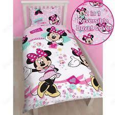 Minnie Mouse Queen Bedding by Disney Cotton Blend Bedding Sets U0026 Duvet Covers For Children Ebay