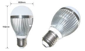 led bulb light high efficiency high power factor 5w high