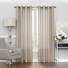 Crushed Voile Curtains Grommet by Luxury Collection Venetian Grommet Crushed Voile Curtain Panel